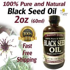 2oz 100% Pure & Natural Black Seed Oil Cold Pressed Cumin Nigella Sativa Non-GMO