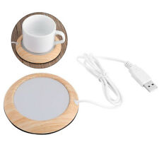 Light Wood USB Heat Heater Milk Tea Coffee Mug Warmer Office Cup Mat Pad Coaster
