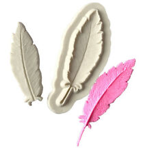 2pcs Feather Silicone Mold Fondant Mold Cake Decorating Tools Chocolate Mould HV