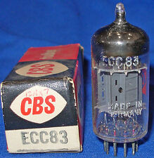NOS / NIB Siemens ECC83 / 12AX7 Branded For CBS 1960 Date