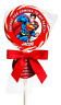 """1.5"""", 2"""", 2.5"""" SUPERMAN BIRTHDAY LOLLIPOP PERSONALIZED PARTY STICKERS FAVORS"""