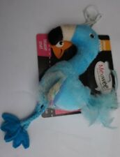 """CATNIP CAT TOY 8"""" MEOWEE FLAMINGO ON BUNGEE STRING TEASER TOY PINK OR BLUE"""