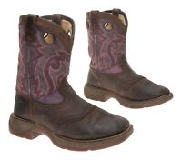 DURANGO Cowboy Boots 1.5 Youth VTG Brown LEATHER Western Rodeo ROPER Boots Kids