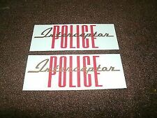1965 FORD POLICE INTERCEPTOR VALVE COVER DECALS PAIR