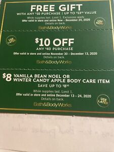 Bath and Body Works Coupons (3 Total)