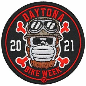 2021 Daytona Bike Week Masked Bearded Skull Event Patch
