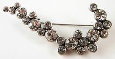 £35 Boho Celtic Art Nouveau Silver Clear Pin Brooch Swarovski Elements Crystal