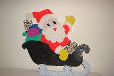 Vintage Popcorn Christmas Decoration Santa in Sleigh