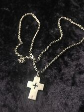 Retired James Avery Sterling Silver 925 Thick Cross Pendant Charm 22 Inch
