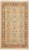 "Hand-knotted  3'2"" x 5'4"" Peshawar Finest Bordered, Floral, Traditional Wool Rug"
