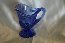Vintage Fostoria Cobalt Blue Creamer Pitcher Avon 1976 Mt Vernon Collection