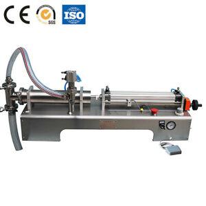 Pneumatic Piston Liquid Filling Machine Water Juice Drink Quantitative Filler