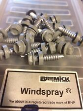 Bremick Tek Screws With Seal 5-4.14x25mm CB Windspray Class 4 Metal x 500 Screws