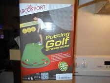 New Abco Tech Sport Putting Green Golf Grassroots Mat-9'X3'-3 Yellow Golf Balls