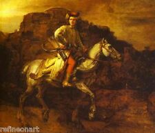 Polish Rider by Rembrandt Canvas Giclee Print Museum Quality 20x24 inch
