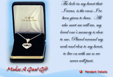 Hole In My Heart Bereavement Pendant