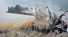 "*Rod Frederick ""TUNDRA WATCH"" Snowy Owl-Winter-Tree-Wildlife-Nature-Outdoor-Art*"
