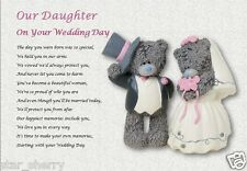 OUR DAUGHTER on your WEDDING DAY - personalised gift
