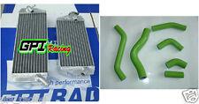 ALUMINUM RADIATOR + hose Kawasaki KLX450R KLX450 KLX 450 R 08 09 2008 2009
