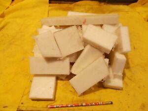 BOX LOT of UHMW BAR square machinable plastic bar stock VARIOUS SIZES