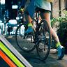 2 High Visibility Arm Slap Strap Band Reflective Safety Band Fluorescent Leg Arm