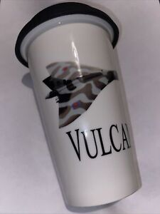 Vulcan official RAF ceramic travel mug with lid
