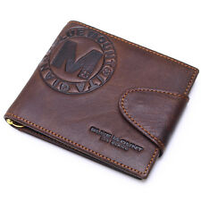 Leather Mens Wallets Money Clip Clutch Purse Credit Card Holder Action Clip