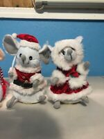 Gemmy Lighted Singing Christmas Mouse lot Traditional Christmas Music Rare