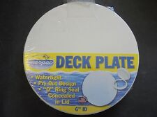 "Marpac Pry Out Marine Deck Plate 6"" WHITE Textured Lid 7-0633 ‰Boat Storage"