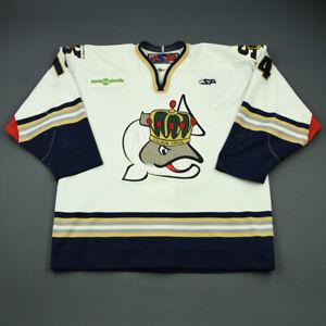 2009-10 Randall Gelech Victoria Salmon Kings Game Used Worn ECHL Hockey Jersey!