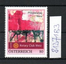 Österreich  personalisierte Marke Philatelietag WEIZ 8127183 **