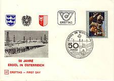 Ersttagsbrief Österreich MiNr. 1646, 50 Jahre Erdölförderung in Österreich
