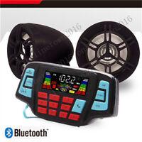 Bluetooth Speakers+Amplifier Handlebar System Motorcycle/ATV/UTV