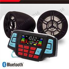 Mp3 Music Player Sound Audio Stereo Speakers System Atv Utv w/ Usb Charging
