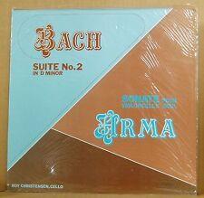 LP ROY Christensen bach suite no. 2 Arma Sonate Solo Violoncelle Gasparo 1979 SEALED