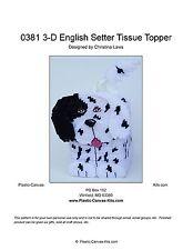 English Setter 3-D Dog Tissue Topper-Plastic Canvas Pattern or Kit