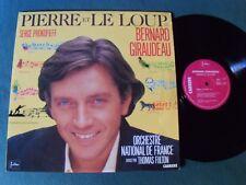 PIERRE ET LE LOUP de PROKOFIEFF / BERNARD GIRAUDEAU & T FULTON LP CARRERE 66.296