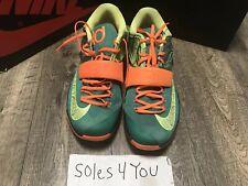 timeless design 493e5 2184d Nike KD VII 7 Weatherman Green Orange 653996-303 Size 11.5 Men