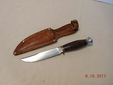 Vtg Fixed Blade Knife Sabatier Jeune Depose Made in France Unused w Sheath