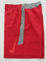 Mens Nike Pro Training Red Dri Fit Running Athletic Workout Gym Shorts Size XL