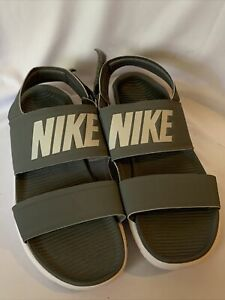 Nike Women's Tanjun Sandal Cool Grey/White 882694-002, Size 9