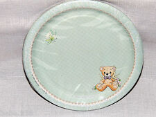~PRECIOUS MOMENTS~ BLUE BABY BOY  8-SMALL  PAPER  DESSER PLATES PARTY SUPPLIES