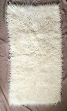 White wool flokati rug
