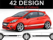peugeot 208 side stripe decals stickers side stripes 2 off