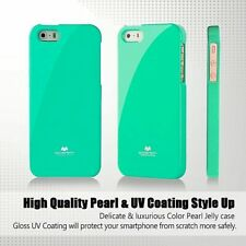 iPhone 5 5s and SE 2016 Genuine MERCURY Goospery Mint Green Jelly Case Cover
