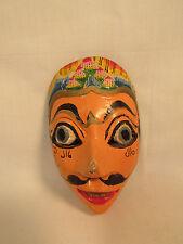 Vintage Javanese Java Island Hand Carved & Painted Wood Mask Indonesia B