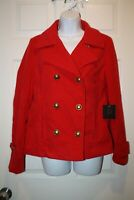 Jack NWT Women's Button Up Jacket with Pockets Size Small Red