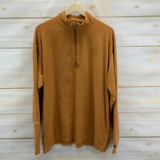 Columbia Fleece Pullover 2XL Orange Half Zip Shirt Jacket Lightweight Thin B140