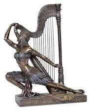 Art Deco Egyption Dancer with Harp, H24cm, Small Figurine.