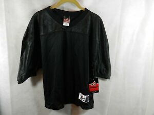 Alleson Athletic Training Jersey Youth L/XL Black Football  New